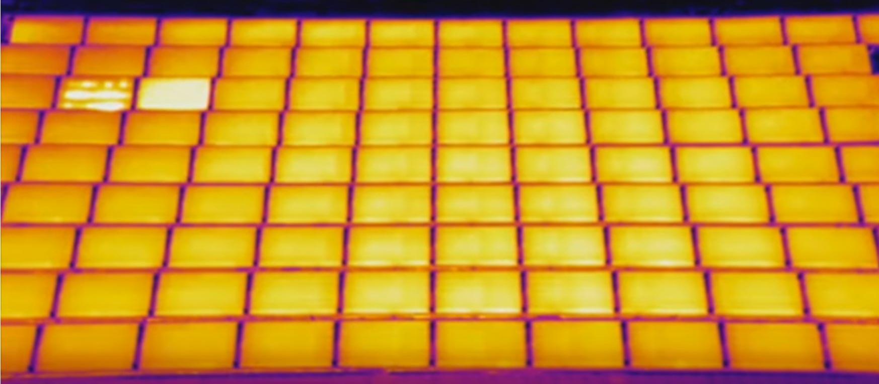 inspection de panneaux solaire par thermographie