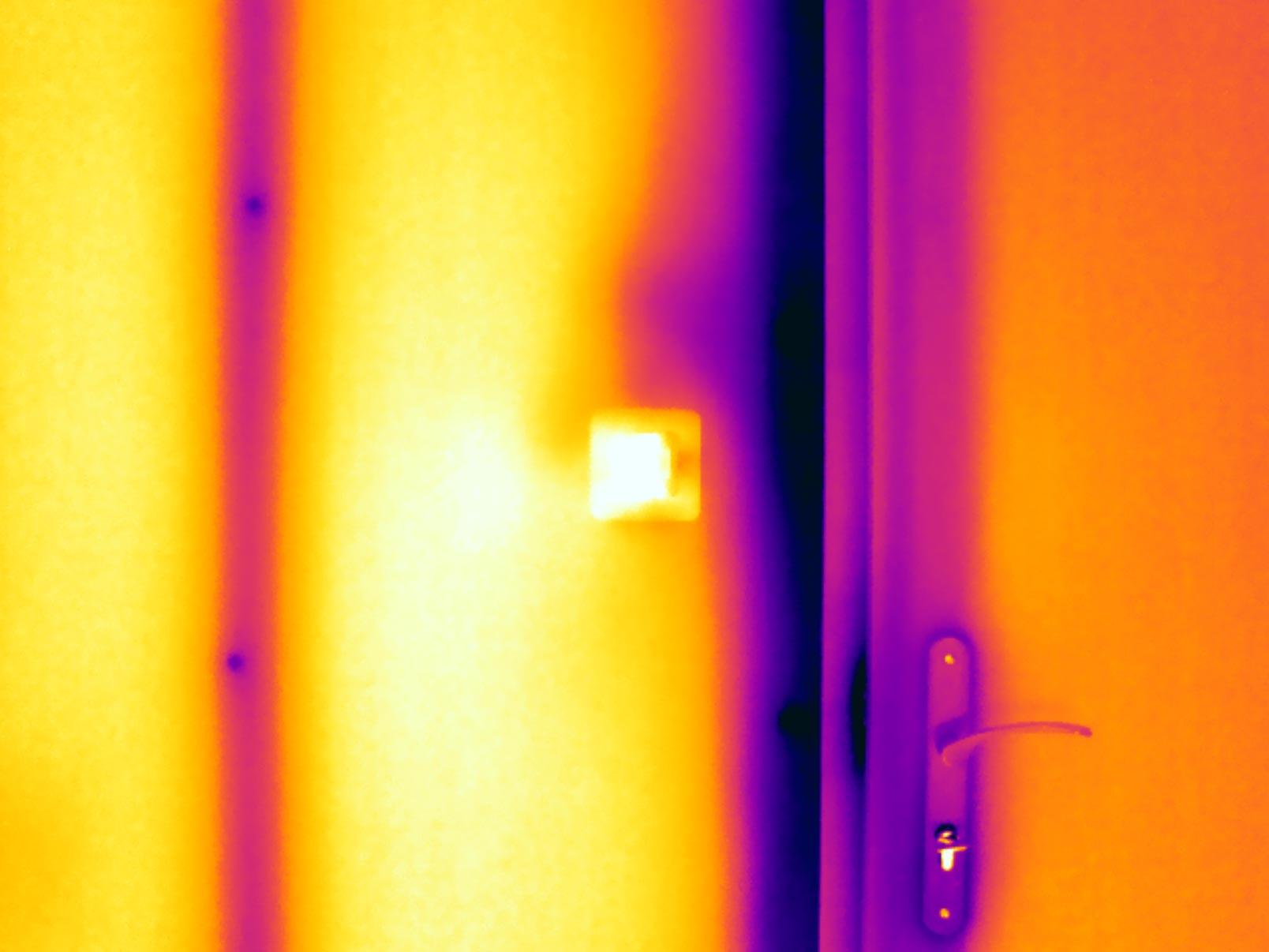 Détecter fuite thermique dans un mur